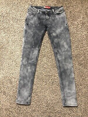Apple Bottoms Jeans Womens Skinny Gray Acid wash Stretch Size (Apple Bottoms Women Apple)