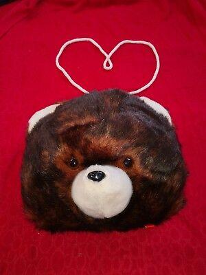 Teddy Muff Bär Plüsch Teddy Handschuhe Bärenmuff Kuscheltier - Tier Handschuhe Braun