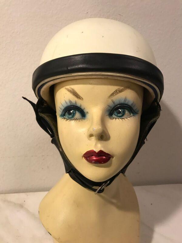 Vintage Motorcycle Helmet Scooter Japan made by Hurricane