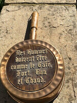 Vintage Brass French Hanging Display Pan