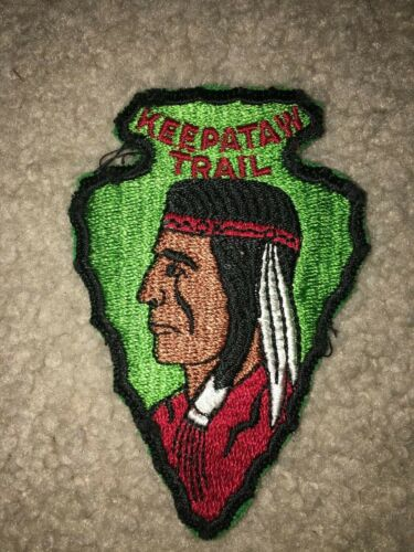 Boy Scout BSA Keepataw Lemont Illinois Arrowhead Shape Solid Hike Trail Patch