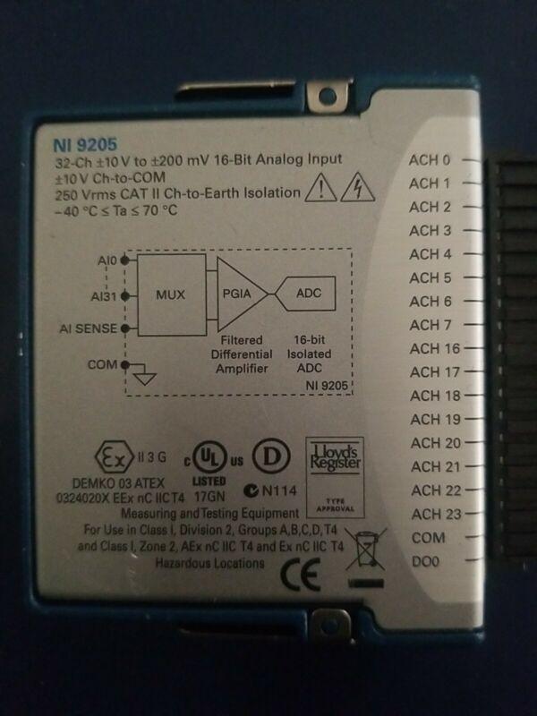 *USA SELLER* National Instruments NI 9205 Analog Input Module 16-Bit 32-Channel