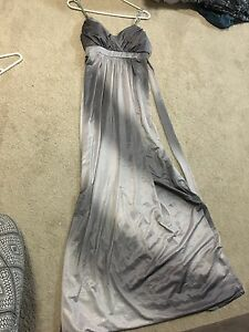 Grey Semi-Formal Floor Length Dress - Size 8 Miami Gold Coast South Preview