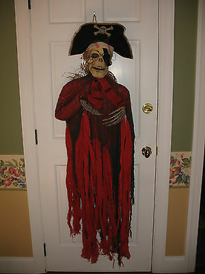 "Large 55"" hanging red black Pirate skeleton torso Halloween Great Party Prop"