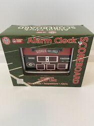 Georgia Bulldogs 2 Time Champ Scoreboard Desk Clock Go Dawgs NEW