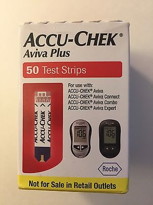 Accu-Chek Aviva PLUS 50 Strips Expire 8/17 DIABETIC Blood Glucose test FAST SHIP