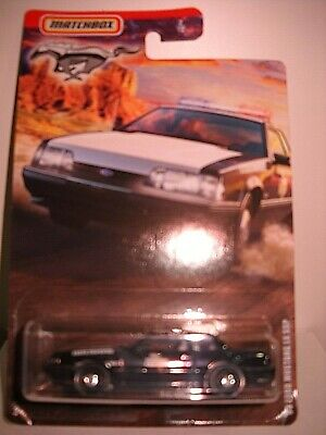 MATCHBOX 93 FORD MUSTANG LX SSP POLICE CAR