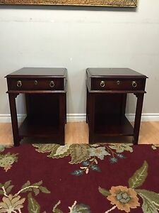2x cherrywood night tables (with free delivery)
