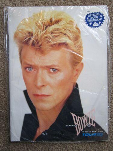 ORIGINAL > David Bowie CONCERT PROGRAM 1983 MINT sealed unused