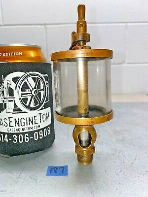 Brass Oiler Hit Miss Gas Engine Vintage Antique Stamped 3