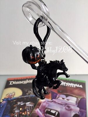 Disney Disneyland Dca Halloween Headless Horseman Light Up Clip Keychain   Straw