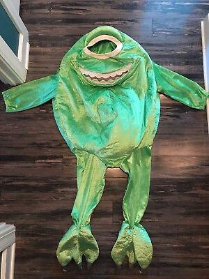 RARE Monsters Inc Mike Wazowski Halloween Costume Pixar Disney Store 4-6 T
