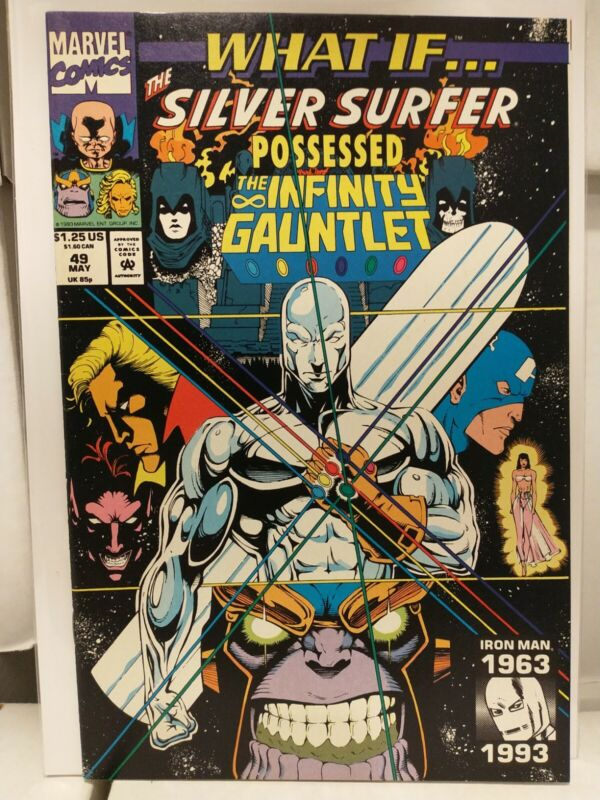 WHAT IF...? #49! NM Silver Surfer! Infinity Gauntlet! Marvel 1993