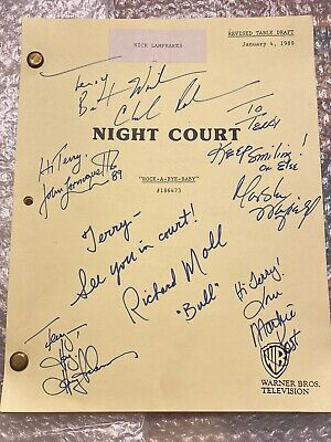 Night Court Autographed Episode Script