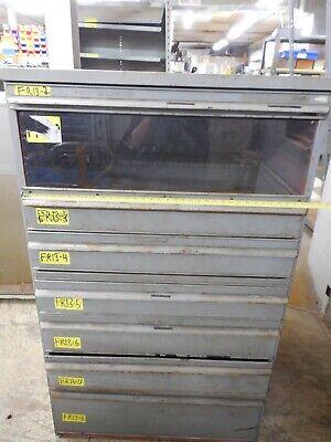 Display 6 Drawer Machine Shop Storage Cabinet 36 X 74 Drills Tools Saws