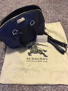 Authentic Burberry orchard blue bag!!! EUC!!!