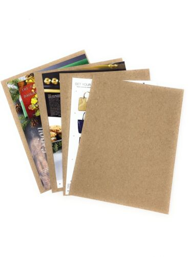 25- 5x7 Chipboard Sheets Kraft Pads Cardboard For Photos Crafts Scrapbook 35 Pt. - $9.99