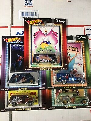 Hot Wheels Pop Culture 2018 Disney Classic Assortment Set Of 5 MONMC (b3)