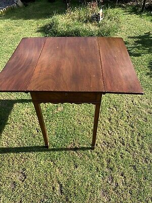 Mahogany Drop Leaf Occasional Side Or Hall Table