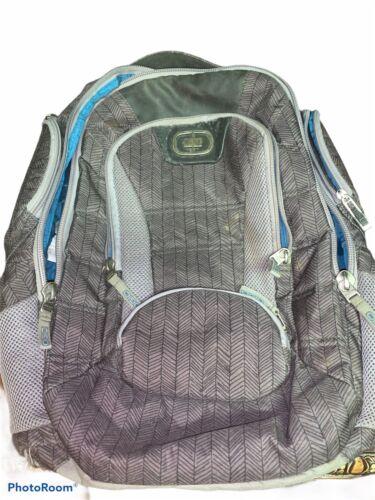 Ogio Bandit 17 Sho-Air Commuter Laptop Backpack Gray/Black Graphic EUC - $26.99