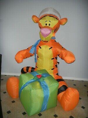 "Gemmy Disney Christmas Inflatable Tigger Sitting 60"" Tall"