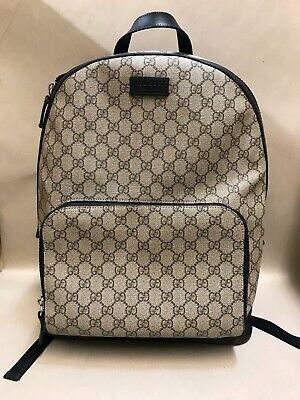Gucci GG Supreme Backpack Canvas - Large -  Style 406370 Great Out Dirty Inside