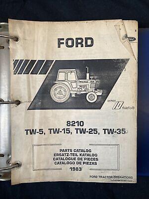 Ford Tractor Parts Catalog 8210 Series Tractors Tw-5 Tw-15 Tw-25 Tw-35 1914