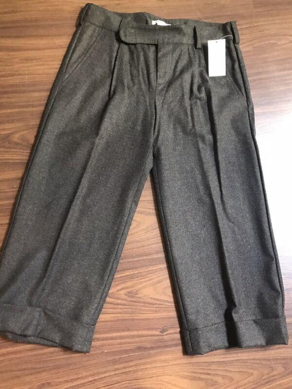 Vince Womens Black Wool Blend Cuffed Capri Crop Dress Pants Career Size 2