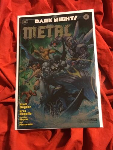 DARK NIGHTS METAL #2~NYCC 2017 FOIL VARIANT EXCLUSIVE~JUSTICE LEAGUE MOVIE SOON~