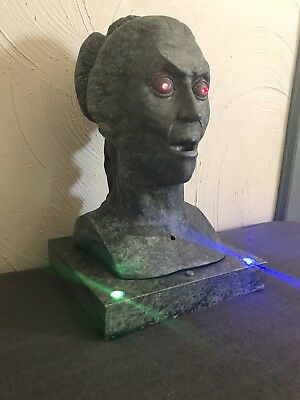 Gemmy Animated Talking Bust Lighted Statue Figurine Halloween Prop 13