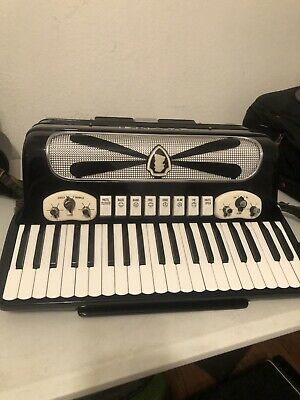 Davinci Accordion M M 10 #01587 Black 120 bass made in Italy