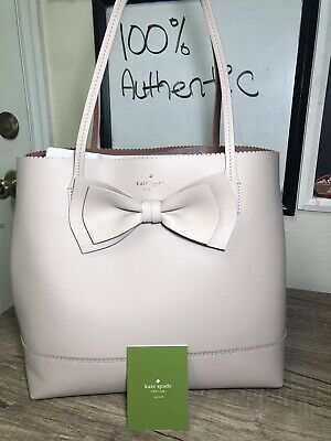 Kate Spade Bow Handbag Soft Pink Brand New Authentic Tote Purse