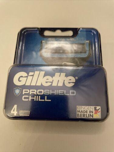 Gillette PROSHIELD CHILL 4 Rasierklingen Original Blister originalverpackt