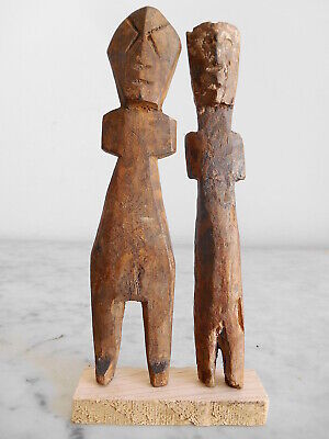 2 Fetishes Aklama Adan Ada Ewe 17cm +18cm Art Tribale Primitive African