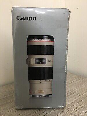 Canon EF 70-200mm f/4 L IS USM Lens includes case LP1224