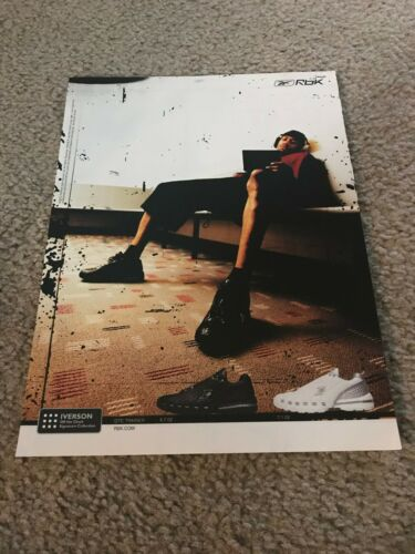 REEBOK ALLEN IVERSON OFF THE CLOCK SIGNATURE COLLECTION Shoes Poster Print Ad