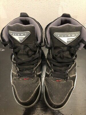 RARE Nike Air Flight Falcon Basketball Shoes Black Blue Grey Men's Size 13