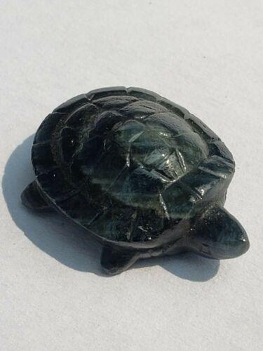 Sapphire Turtle Carving Gemstone