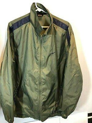 Nike Windbreaker Large Green Black Tag Vintage Jacket zip