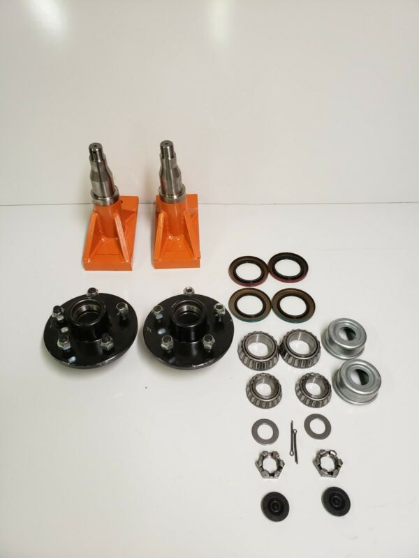 Superior Quick-Set Shipping Container Wheels, 5 x 5.5 Lug Spindle Kit (1 Set)