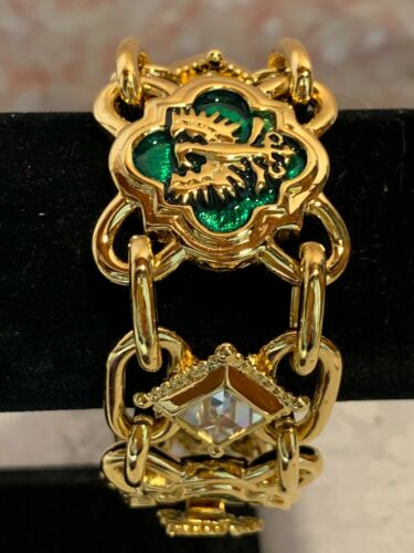 NEW Vintage Crown Jewels by Princess Michaela Von Habsburg Bracelet green gold
