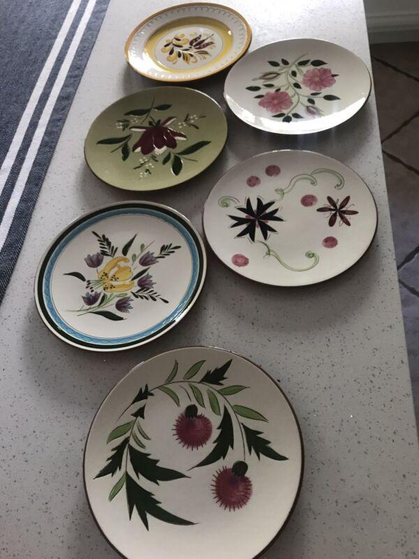 william sanoma/stangle pottery, Trenton Handmade & Painted Salad/desert Plates