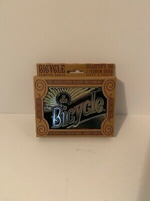 Bicycle Retro Collector's Tin Gift Set - Contains 1 Purple and 1 Green Deck
