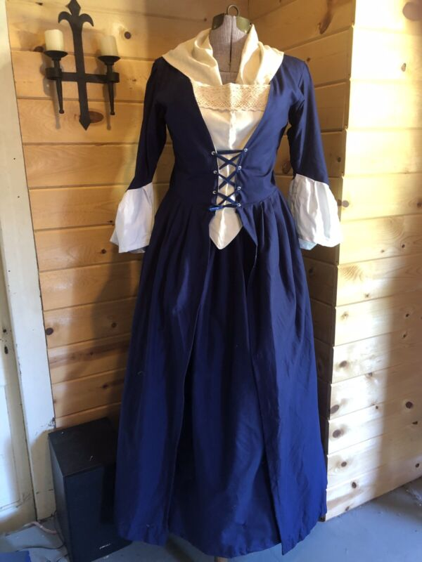 Colonial 18th Century Revolutionary 1700s Georgian Williamsburg Gown Polonaise