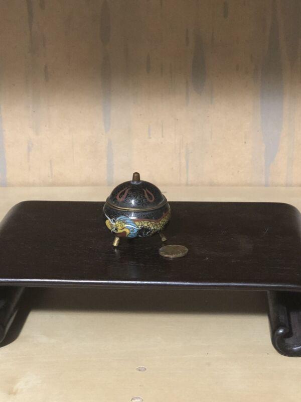 Chinese antique cloisonne incense burner