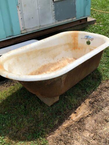 Vintage Bath Tub Cast iron  5 feet Claw Foot Style  No feet included!