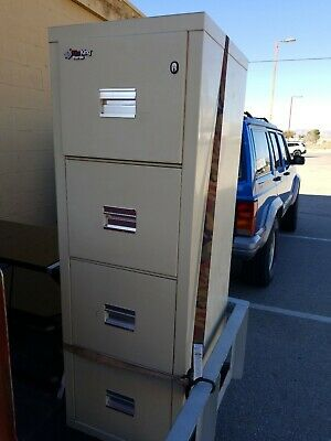 Fire King Four Drawer Office Filing Cabinet 2 Keys Used