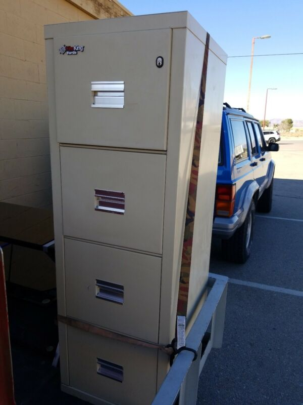 Fire King ~ Four Drawer Office Filing Cabinet ~ 2 keys ~ Used