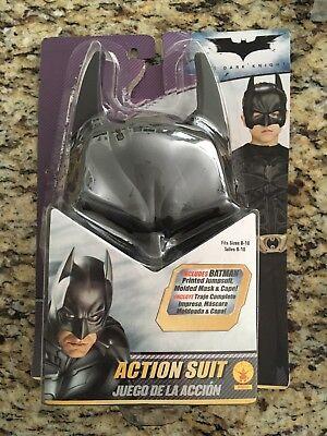 Batman Kids Suit (Batman Action Suit Child Costume Fits Size)