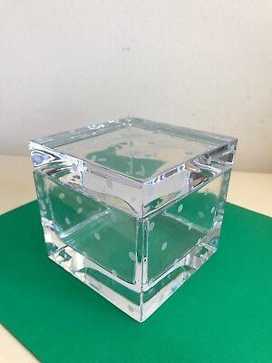 "Kate Spade New York / Lenox LARABEE DOT Crystal 4"" Cube Box - Lenox Larabee Dot"